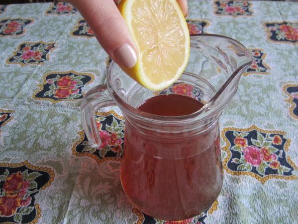 лимон, чай