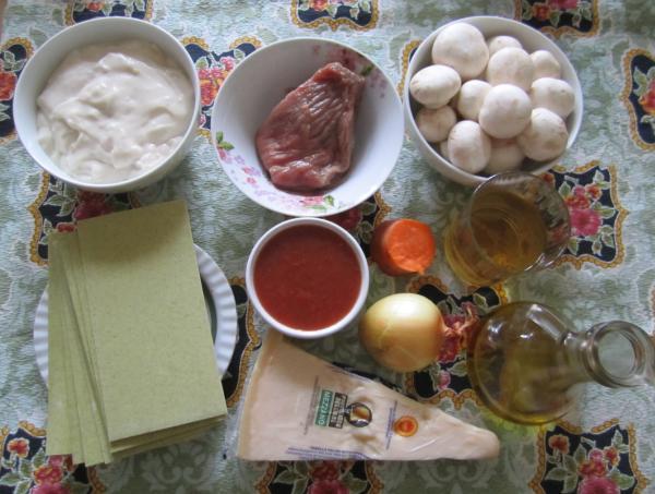 ингредиенты лазанья