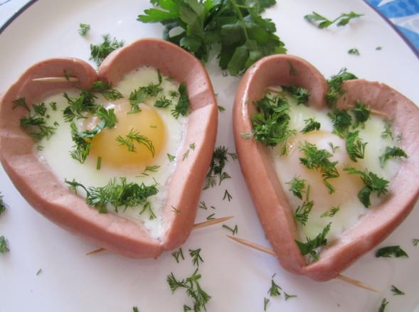 сердца на тарелке