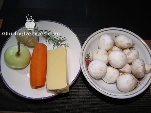 Ingredients -mushrooms