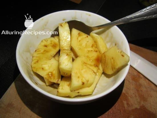 ананас, маринуем в соевом соусе